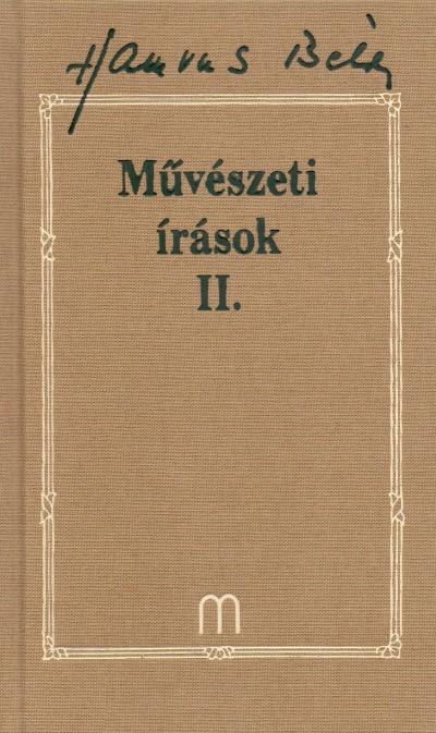 Hamvas Béla - Palkovics Tibor  (Szerk.) - Művészeti írások II. (Hamvas 27.)