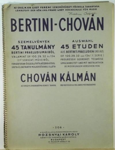 - Bertini-Chován szemelvények
