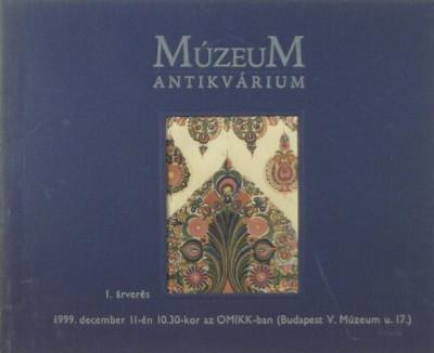 - A Múzeum Antikvárium 1. árverése