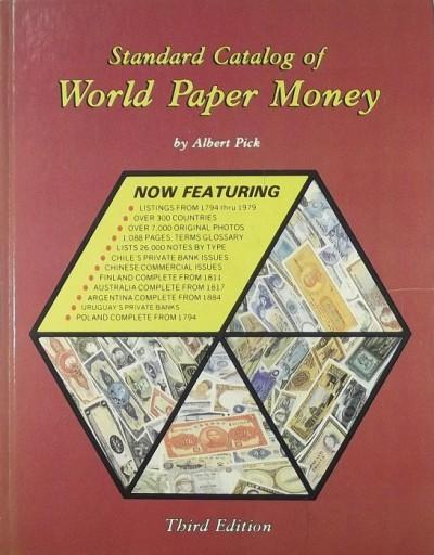 Albert Pick - Standard Catalog of World Paper Money