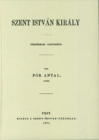 Pór Antal - Szent István király