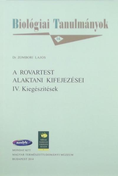 Zombori Lajos - A rovartest alaktani kifejezései
