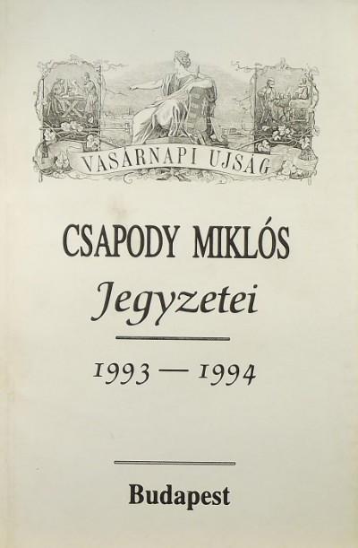 Csapody Miklós - Csapody Miklós jegyzetei