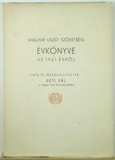 Réti Pál - Magyar uszó szövetség évkönyve az 1947. évről