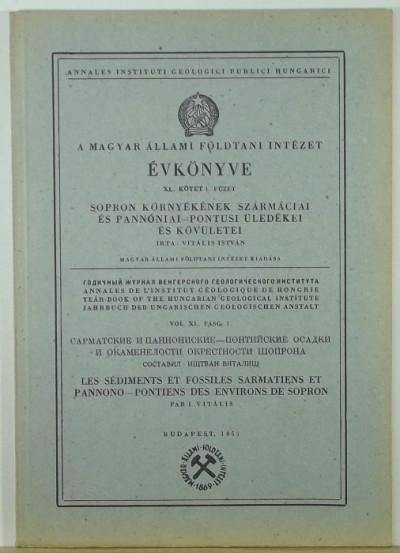 Vitális István - A Magyar Állami Földtani Intézet évkönyve XI. kötet I. füzet