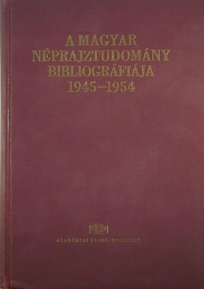 Dr. Sándor István - A magyar néprajztudomány bibliográfiája