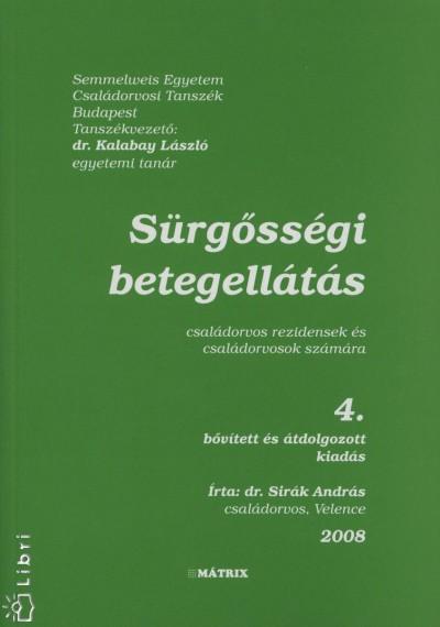 Dr. Sirák András - Sürgősségi betegellátás