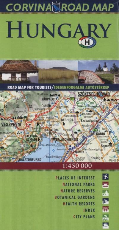 Daniel Haitas - Hungary Road Map + Travel Guide - 1:450 000