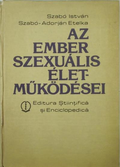 Szabó István - Az ember szexuális életműködései