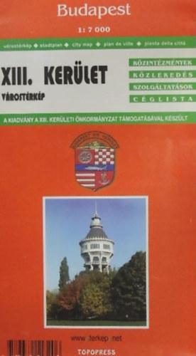 Libri Antikvar Konyv Budapest Xiii Kerulet Terkep 1 7000