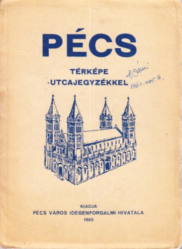 Libri Antikvar Konyv Pecs Terkepe Utcajegyzekkel 1960 2990ft