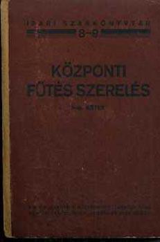 Központi fűtés szerelés könyv